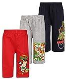 Dongli Boys Fabulous Printed Capri(Pack Of 3) (DBPC WMELANGE NAVY RED 13-14Y)