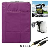 Pillow Edition Protective Lightweight Sleeve For Lenovo IdeaTab S2109 / A2109 Tablet + Auxiliary Cable + Windshield Car Mount