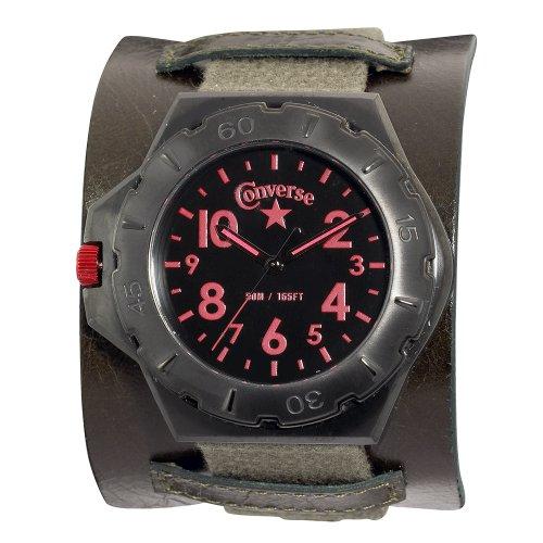 Converse Men's VR006305 Bootleg Culture Army Green Strap Watch