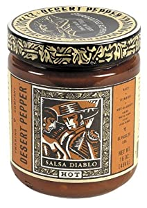 Desert Pepper Trading Diablo Hot Salsa, 16 Ounce -- 6 per case. from Desert Pepper Trading Co