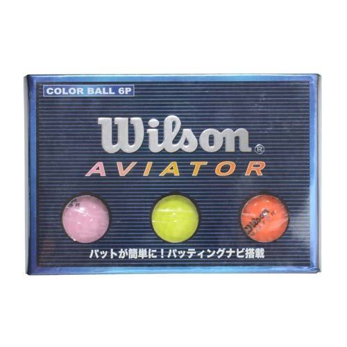WILSON(ウィルソン) 【ゴルフ】【公認球】【6個入り】エビエーター カラーボール