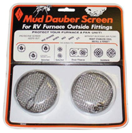 JCJ M-300 Mud Dauber Screen for RV furnace Outside Fitting (Rv Heater Vent Cover compare prices)