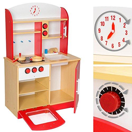 Tectake cucina per bambini gioco giocattolo in legno for Cucina legno bambini amazon