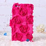 Nancy's Shop iPhone 6 [Roses Floral] Case, iPhone 6 4.7 Premium Case, DEEGO Unique Roses velvet [Card Slots] wallet Case Cover for iPhone 6 4.7 inch (Red rose Nancy's Shop Apple Iphone 6 4.7 Case cover)