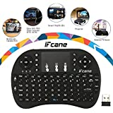 IFcane® 2.4G Mini Wireless Keyboard With Touchpad Mouse Combo Smart Remote For Laptop Computer Windows, Android TV Box