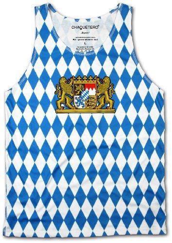 Chaquetero Unisex Tank Top Bayern Bavarian Raute Designer Singlet T-Shirt Oktoberfest Bekleidung Wiesn Trachtenshirt Fashion Outfit 2014 Unterhemd M