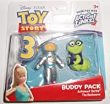 Disney / Pixar Toy Story 3 Action Links Mini Figure Buddy 2Pack Astronaut Barbie The Bookworm