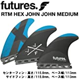 ショートボード用フィン FUTURES. FIN フューチャーフィン RTM HEX JOHN JOHN - MEDIUM ジョンジョン フローレンス ミディアム TRUSS BASE トラスベース
