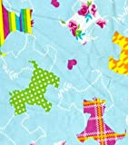 SCOTTISH TERRIER DOGS PLAID (SCOTTY DOG) 1/2 Yard 100% Cotton Flannel Fabric ~Sewing Quilting Crafts