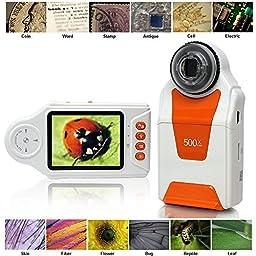 Indigi Digital Pocket Microscope Magnifier 500x ZOOM 2.7\