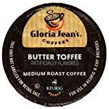 Gloria Jeans Coffee, Butter Toffee, K-Cup Portion Pack for Keurig K-Cup Brewers (Pack of 24)