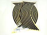 リムステッカー 反射 カラフル 17 18 インチ 4車輪分 (黒(black))