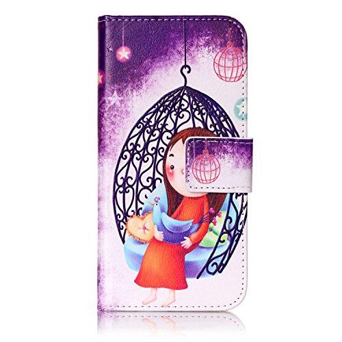 Coque iPhone 7, iPhone 7, Housse iPhone 7, Cozy Hut ® Colorful imprimé étui en cuir PU Cuir Flip Magnétique Portefeuille Etui Housse de Protection