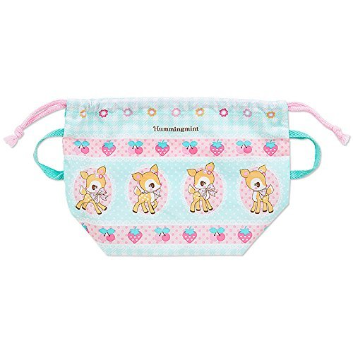 Humming Mint Bento bag DrawString lunch box case