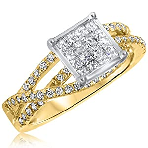 2/3 CT. T.W. Diamond Ladies Engagement Ring 14K Yellow Gold- Size 5
