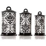 Drake Design Ceramic Canister Set, 10/11 and 12-Inch, Set of 3