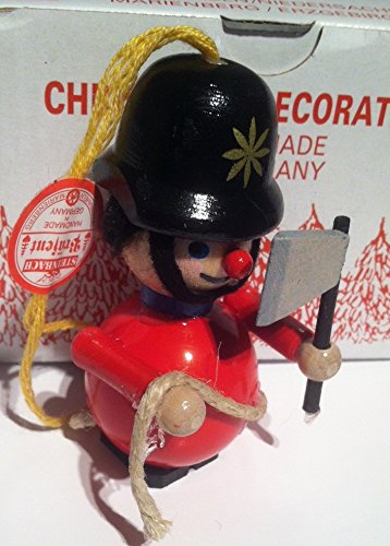Fireman Steinbach Wood Christmas Tree Ornament