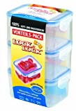 Lock & Lock HPL8070LT3 Vorteilspack Multifunktionsboxen rechteckig