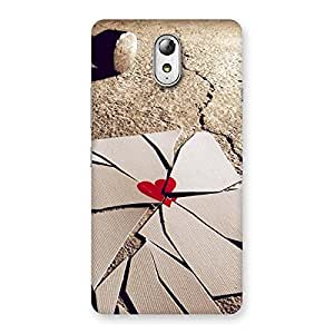 Cute Broken Heart Ace Print Back Case Cover for Lenovo Vibe P1M