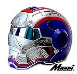 ジェット ヘルメット ロボヘル610 Automic Man ブルー/グレーL Masei(マセイ) MA-610-LGY-L