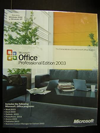 Office 2003 Professional Full Version Retail Box P# 269-07387