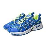[Neues Muster] Husto-T Männer leichte Laufschuhe für Männer atmungsaktive Sport(Blau,43.5EU)