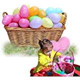 Dazzling Toys Easter Eggs - Plastic Bright Egg Assortment - 72 Pieces - 2 Inch Eggs