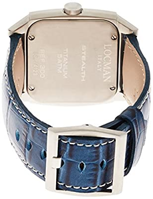 LOCMAN watch stealth video Quartz GMT leather belt men's 0300 030000BLFYLRPSB Men