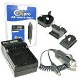 Ex-Pro® Panasonic CGR-D08, CGRD08 - LCD Indication Fast Charge Digital Camcorder Travel Charger for Panasonic NV-DS25EG, NV-DS27, NV-DS28, NV-DS29, NV-DS29EG, NV-DS30, NV-DS30EG, NV-DS33, NV-DS33EN, NV-DS35