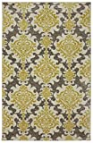 STAINMASTER Damask Area Rug, 8 by 10-Feet, Gray/Gold