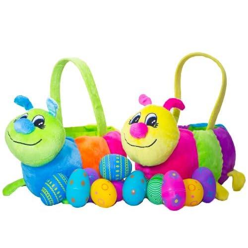 Amazon.com: Set of 2 - Caterpillar Easter Baskets, Large Plush Basket