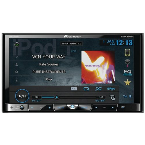 "Pioneer Avh-X8500Bhs 7"" Double-Din In-Dash Dvd Multimedia A/V Receiver With Detachable Face, Bluetooth(R) & Hd Radio(R)"