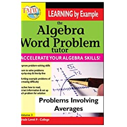Algebra Word Problem: Problems Involving Averages