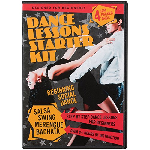 Dance Lessons Starter Kit - Swing Dancing, Salsa Classes, Merengue & Bachata (4 DVDs) (Learn Salsa Dvd compare prices)