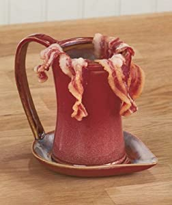 Ceramic Bacon Cooker - Brown