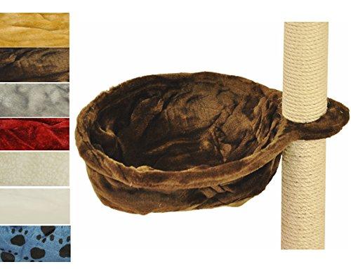 nanook-liegemulde-fur-kratzbaum-mit-metallrahmen-viele-farben-40-cm-oe-braun