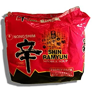 Nong Shim - Shim Ramyun Noodle Soup Gourmet Spicy Family Pack Net Wt 132 Lbs by Nong Shim America Inc.