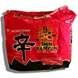 Nong Shim - Shim Ramyun Noodle Soup Gourmet Spicy Family Pack Net Wt. 1.32 lbs.