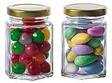 GoJars 4oz Hexagon Glass Jars for Gifts, Weddings, Honey, Jams, and More (12, 4oz)