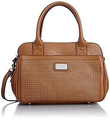 Nine West Double Vision Satchel Top Handle Bag, Henna Brown, One Size