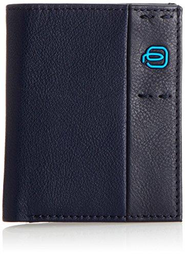 Piquadro Pulse Portafoglio, Pelle, Blu, 10 cm