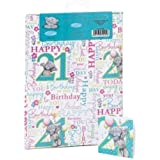 Me to You - 21st Birthday Giftwrap and Tags - Tatty Teddy Bear Wrapping Paper