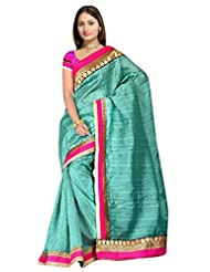 Sehgall Saree Indian Bollywood Designer Ethnic Professional Designer Material Faux Geogette Blue