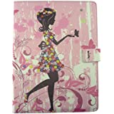 Emartbuy Samsung Galaxy Tab S2 9.7 Inch SM-T819 Tablet Tablet 10 Inch Universal Range Pink Flower Girl Multi Angle...
