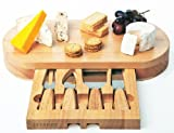 Occasion oval Cheese Board by signifies of  designed Drawer and 4 Specialist Cheese Knives