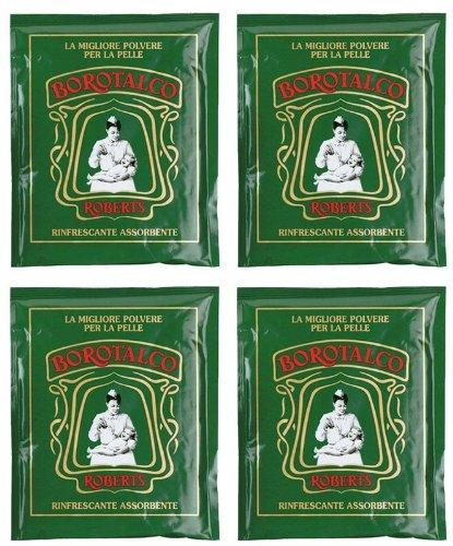Roberts: Borotalco® Talc Powder - 100 G (3.5 Oz) * BOX OF 4 * [ Italian Import ] - 1