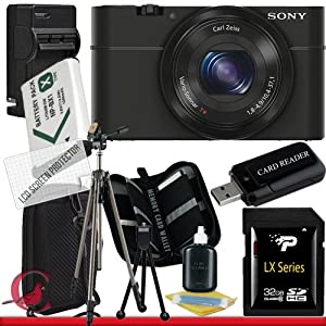Sony Cyber-shot DSC-RX100 Digital Camera (Black) 32GB Package 6