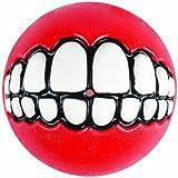 Rogz Grinz Ball Dog Toy, Medium, Red