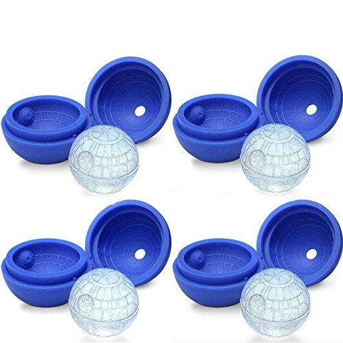 Death Star Ice Cube Mold for Star Wars Lovers by Vibrant Kitchen (4 Pack)