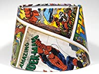 """Marvel Avengers lampshade Light Shade Hulk Thor Spiderman 9.5"""" Ceiling Pendant Light Shade or Lamp shade DUAL PURPOSE CBL03 from Candy Bottle Lamps UK"""